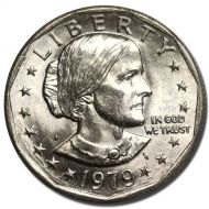 1979 P Susan B Anthony Dollar - Brilliant Uncirculated - Wide Rim
