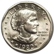 1980 D Susan B Anthony Dollar - Brilliant Uncirculated