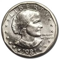 1981 S Susan B Anthony Dollar - Brilliant Uncirculated