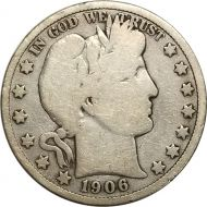 1906 D Barber Half Dollar - G (Good)