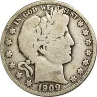 1909 Barber Half Dollar - VG (Very Good)