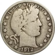 1912 Barber Half Dollar - VG (Very Good)