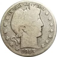 1915 S Barber Half Dollar - G (Good)