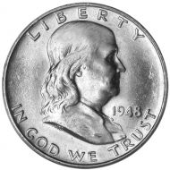 1948 D Franklin Half Dollar - Brilliant Uncirculated