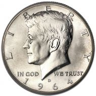 1964 D Kennedy Half Dollar - Brilliant Uncirculated