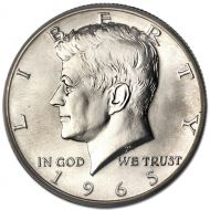 1965 Kennedy Half Dollar - Brilliant Uncirculated
