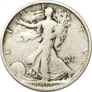 1917 S Walking Liberty Half Dollar Reverse - F (Fine)