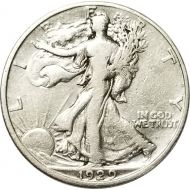 1929 D Walking Liberty Half Dollar - F (Fine)