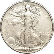 1937 Walking Liberty Half Dollar - Extra Fine