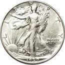 1939 D Walking Liberty Half Dollar - XF (Extra Fine)