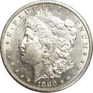1880 S Morgan Dollar -  (AU) Almost Uncirculated