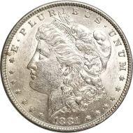 1881 Morgan Dollar -  (AU) Almost Uncirculated