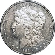 1881 O Morgan Dollar -  (AU) Almost Uncirculated