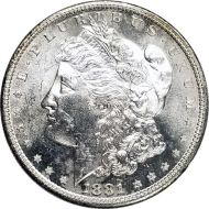 1881 S Morgan Dollar -  (AU) Almost Uncirculated