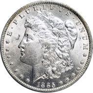 1885 O Morgan Dollar -  (AU) Almost Uncirculated