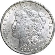1886 Morgan Dollar -  (AU) Almost Uncirculated