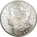 1880 S Morgan Dollar - (BU) Brilliant Uncirculated