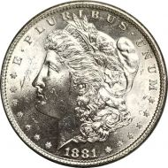 1881 S Morgan Dollar - (BU) Brilliant Uncirculated