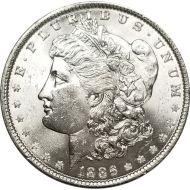 1886 Morgan Dollar - (BU) Brilliant Uncirculated