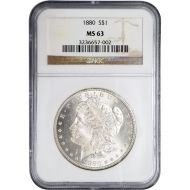 1880 Morgan Dollar - NGC MS 63