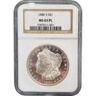 1880 S Morgan Dollar - NGC MS 63 Proof Like