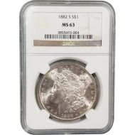 1882 S Morgan Dollar - NGC MS 63