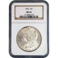 1902 Morgan Dollar - NGC MS 63