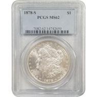 1878 S Morgan Dollar - PCGS MS 62