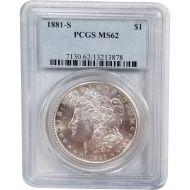 1881 S Morgan Dollar - PCGS MS 62