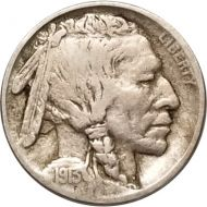 1913 D Buffalo Nickel Type 1 - VF (Very Fine)