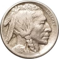 1913 S Buffalo Nickel Type 1 - F (Fine)