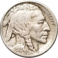 1913 Buffalo Nickel Type 2 - VF (Very Fine)