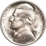 1938 Jefferson Nickel - Brilliant Uncirculated