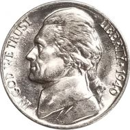 1940 Jefferson Nickel - Brilliant Uncirculated