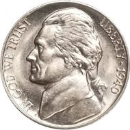 1940 S Jefferson Nickel - Brilliant Uncirculated