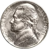 1941 Jefferson Nickel - Brilliant Uncirculated