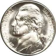1942 S Jefferson Nickel - Brilliant Uncirculated