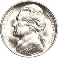 1943 D Jefferson Nickel - Brilliant Uncirculated