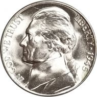 1945 D Jefferson Nickel - Brilliant Uncirculated