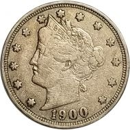 1900 Liberty Nickel - VF (Very Fine)