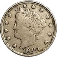 1904 Liberty Nickel - VF (Very Fine)