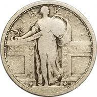 1917 Type 1 Standing Liberty Quarter - VG (Very Good)