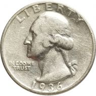 1936 S Washington Quarter - Very Fine