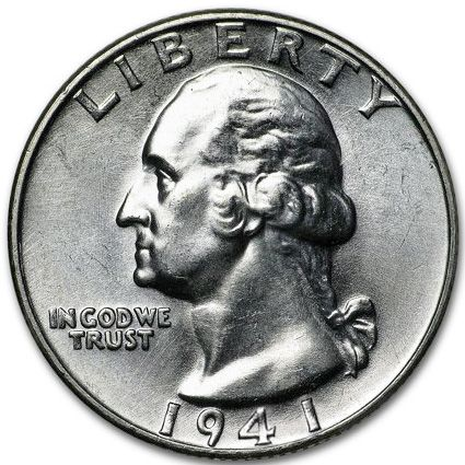 1941 D Washington Quarter - Brilliant Uncirculated