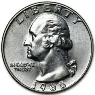 1968 Washington Quarter - Brilliant Uncirculated