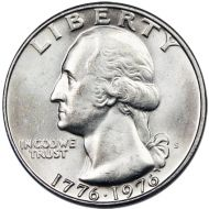 1976 S Washington Quarter - Brilliant Uncirculated 40% Silver
