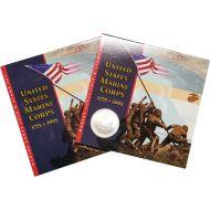 2005-P Marine Corps $1 Silver Commem Coin/Stamp Set BU