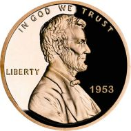 1953 Proof Lincoln Cent