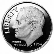1954 Proof Roosevelt Dime