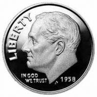 1958 Proof Roosevelt Dime